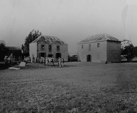 Triabunna Barracks pinhole